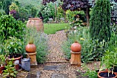INFORMAL COUNTRY GARDEN IN THE RAIN